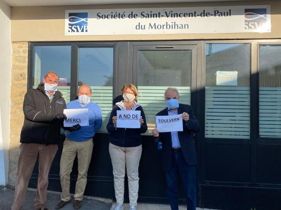 Remise Masques NDToulvern pour St vincent de Paul 20200515